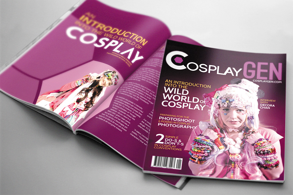 CosplayGen Magazine Cover and Spread