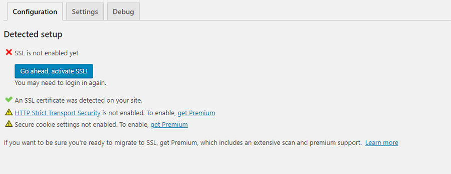 activate ssl under WordPress settings