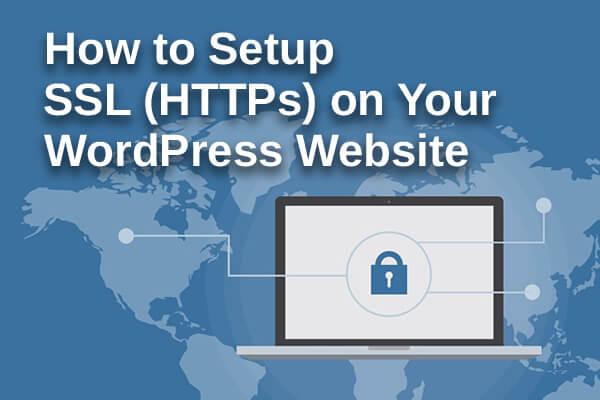 how to setup ssl https on your WordPress website