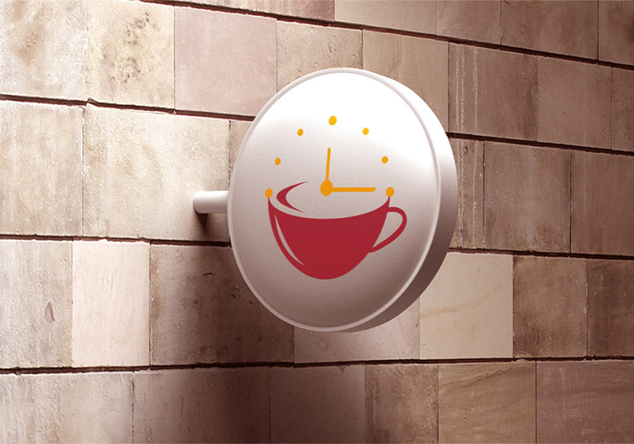 Coffee Time Logo Displayed on a Sign