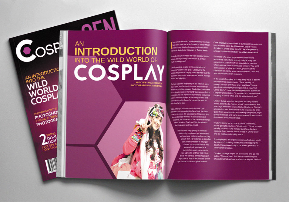 CosplayGen Magazine Article Spread