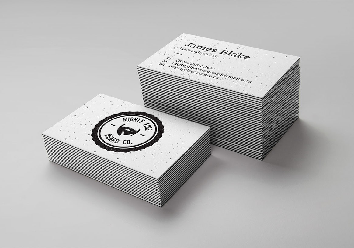 Mighty Fine Beard Co Business Cards