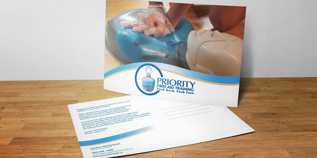 Priority First Aid Training Postcard