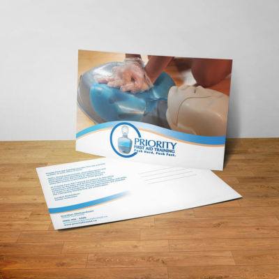 Priority First Aid Training Marketing Postcard