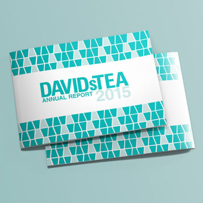 DavidsTea Annual Report Cover Design