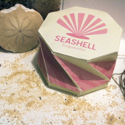Seashell Soapworks Soapbox Package Design Display