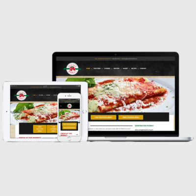 The Italian Market WordPress Website Displayed on Macbook Tablet and Phone